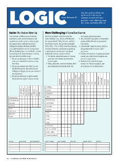 Magazine page image for Logic puzzle
