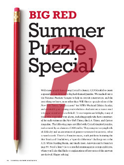 Page image for hints section of the puzzle special