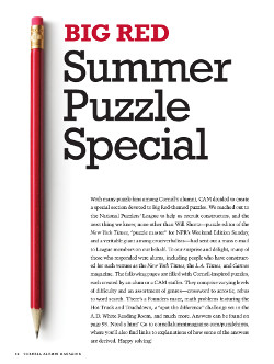 Magazine page image for Summer Puzzle Special