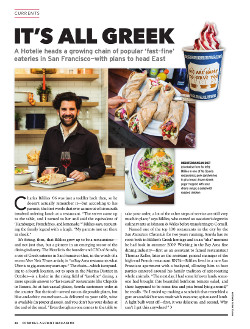 Magazine page image for It's All Greek
