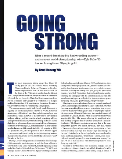 Magazine page image for Going Strong