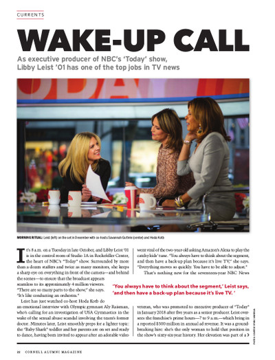 Magazine page image for Wake-Up call