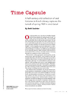 Magazine cover page for Time Capsule