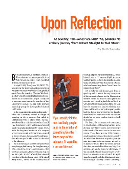 Magazine cover page for Upon Reflection