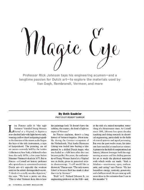 Magazine page image for Magic Eye
