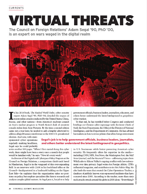 Magazine page image for Virtual Threats