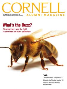 Magazine cover featuring a honey bee