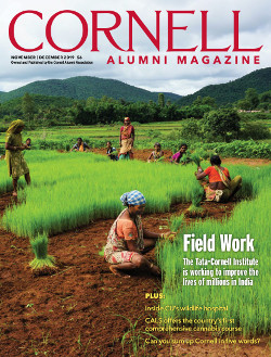 November/December magazine cover image of rice fields in India
