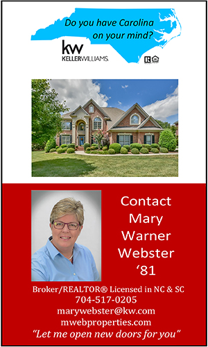 Mary Webster real estate services in NC and SC